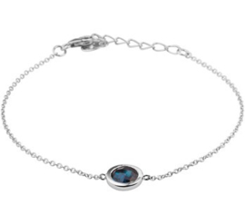 Armband synth. blauw topaas 1,4 mm 17 + 3 cm