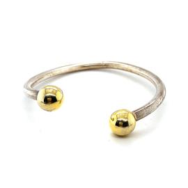 Occasion zilver en gouden bicolor bangle