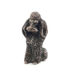 Occasion miniatuur poedel zilver 835