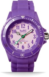Tutti Milano TM300WH Picollo- Horloge - Siliconen - 30 mm - Paars