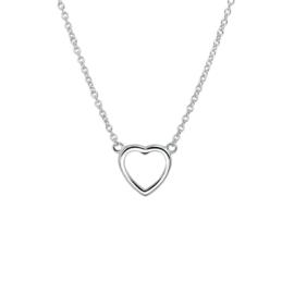 Zilveren collier hart 1,3 mm 36 + 4 cm