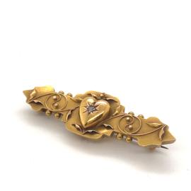 Occasion unieke handgemaakte broche van speciale goudlegering