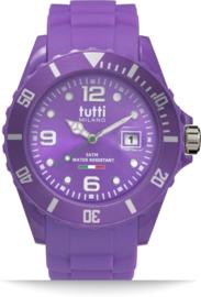 Tutti Milano TM002PU- Horloge - 42.5 mm - Paars - Collectie Pigmento