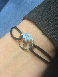 Armband Satijn Stichting Help Angela - Goud & Briljant VIP