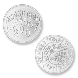 Mi Moneda Phaistos & Numbers zilver