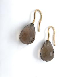 Geelgouden oorhangers rookkwarts