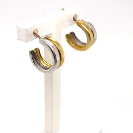 Occasion bicolor gouden creool stekers