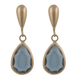 Cataleya Earrings Pear Blue