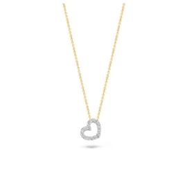 Blush Collier 3072BZI - Geel en Wit Goud met Zirkonia