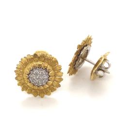 Occasion bloemvormige oorknoppen met diamant van het merk Gourji