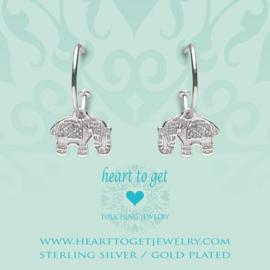 Heart to Get - Bohemian Elephant - Oorbellen - Zilver