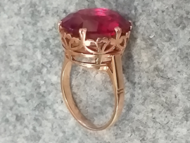 Vintage Ring Robijn rosegoud