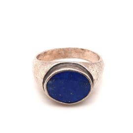 Occasion zilveren ring met lapis lazuli