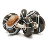 Retired trollbeads  Striped Onyx set