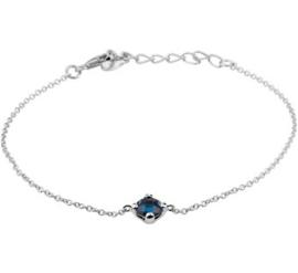 Zilver gerhodineerd colliers met hangers (armband)