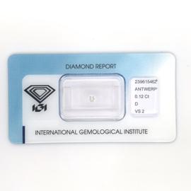 IGI diamant - 0.12 ct. - rond briljant