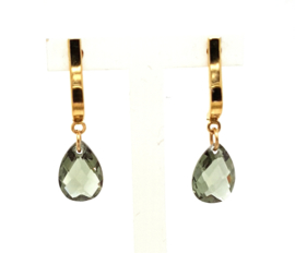 Cataleya Earrings Half  Wave & Pear Green