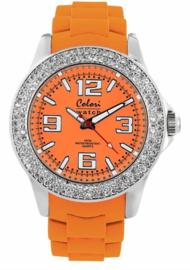 Colori 5-COL113 - Horloge -Oranje - 44mm