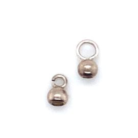 Inlakbollen zilver 4mm