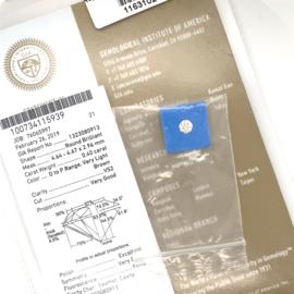 GIA Diamant - 0.40 ct - rond briljant - VS2 O-P