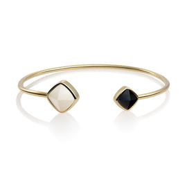 Edge Bangle - Mother of Pearl & Onyx