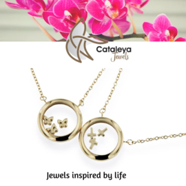 Cataleya Jewels - collier - floating gold charms