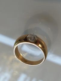 Occasion ring met roos diamant