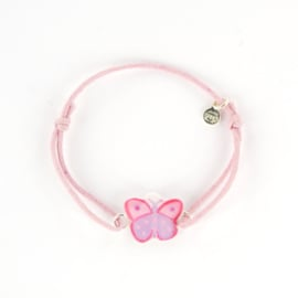 Zilveren Cord Bracelet Butterfly