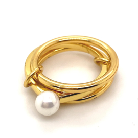 New old stock superstylish trend sieraden ring maat 18