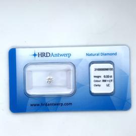 HRD Diamant - 0.32 ct. - briljant - F / loupe clean