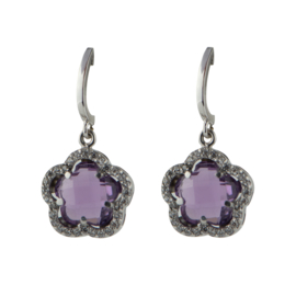 Cataleya Jewels Earrings Daisy Amethist