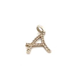 Occasion zilveren hanger letter A
