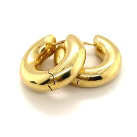 Occasion gouden buis creolen 2.4cm