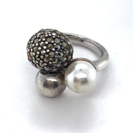 Occasion zilveren ring van Viventy