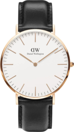 Daniel Wellington Classic Sheffield - Horloge - 40 mm - Zwart