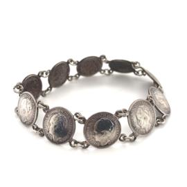 Occasion zilveren Wilhelmina dubbeltjes armband
