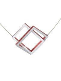 Clic Collier C30R rood en zilverkleurig
