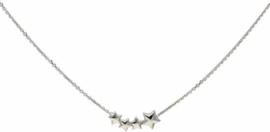 Lovenotes - Zilveren collier met hanger Anker - 43-48cm