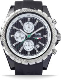 Tutti Milano TM005NO- Horloge - 48 mm - Zwart - Collectie Meteora