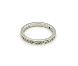 Occasion Tiffany & Co platina rij ring met 0.30ct diamant