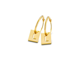 Just Franky Square Earring Charm pair