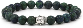 Karma heren armband 86938 Clear Nightsky Silver Buddha - 21 cm