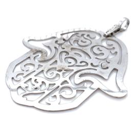 Occasion grote zilveren Fatima hand hanger