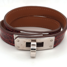 Hermes Armband van leer met stalen sluiting