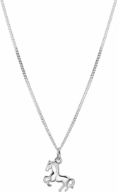 Ketting Paard - Meisjes - Zilver - 40 cm