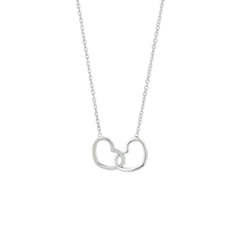 Zilveren collier hart 1,2 mm 40 + 5 cm
