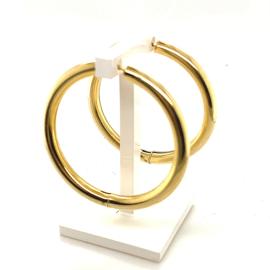 Occasion gouden buis creolen 4cm
