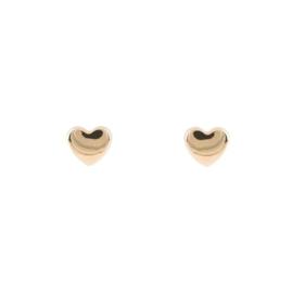 Lilly kinderoorknoppen - hart - geelgoud - 5x4 mm