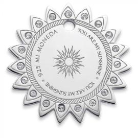 Mi Moneda Sun Tag 20 MM 925 Silver