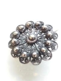 Vintage broche Zeeuwse knoop zilver